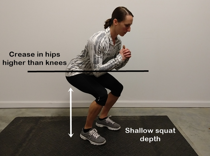 shallow squat depth