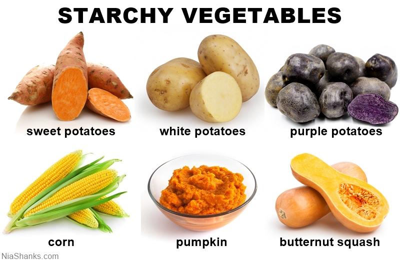 whole food starchy veggies